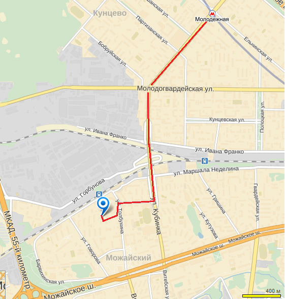 Схема проезда в выставочный павильон (пункт самовывоза).  E-mail. info@aurix.ru.